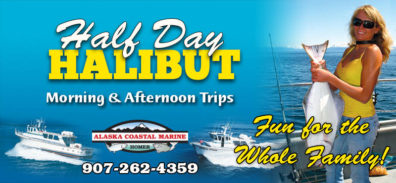 Half Day Halibut Fishing Trip - Homer Alaska