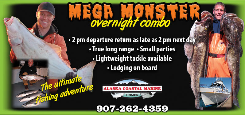 Mega Monster Overnight Fishing Trip - Homer Alaska