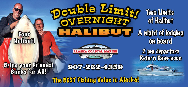 Double Limit Overnight Halibut Fishing Trip - Homer Alaska